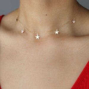 Jewelry - Gold Star Choker Necklace